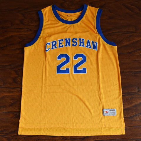 Quincy McCall Crenshaw High School Basketball Jersey Stitched - Yellow