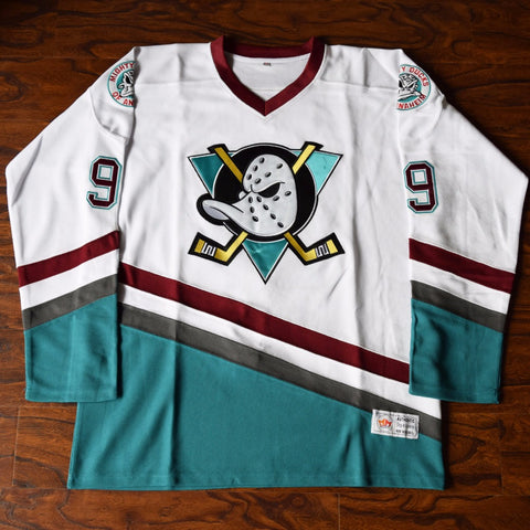 Adam Banks Mighty Ducks Ice Hockey Jersey Stitched - White
