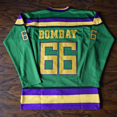 Gordon Bombay Mighty Ducks Ice Hockey Jersey Stitched - Green