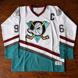 Charlie Conway Mighty Ducks Ice Hockey Jersey Stitched - White