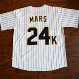 Bruno Mars Hooligans Baseball Jersey Stitched - White
