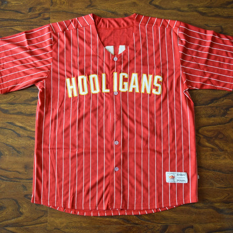 Bruno Mars Hooligans Baseball Jersey Stitched - Red