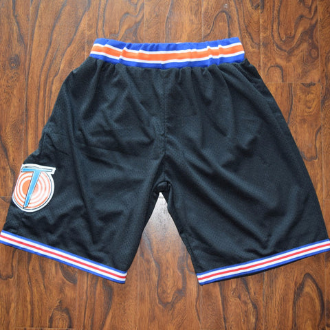Space Jam Tune Squad Basketball Shorts Stitched - Black