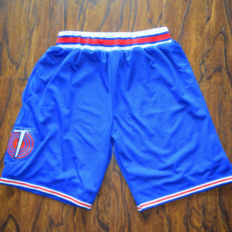 Space Jam Tune Squad Basketball Shorts Stitched - Blue