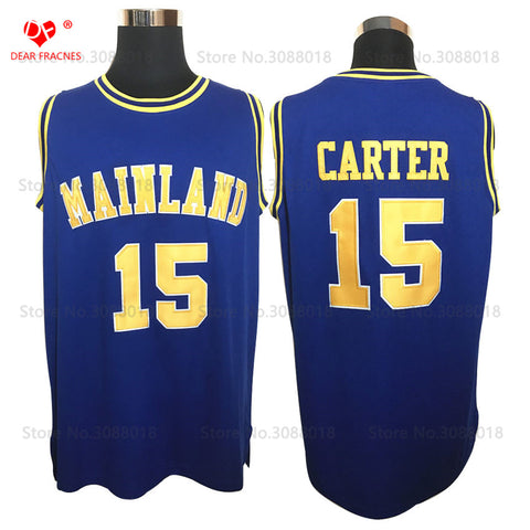 Vince Carter Mainland High School Basketball Jersey Stitched - Blue
