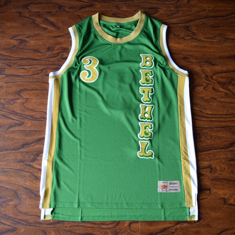 Iverson Bethel High Basketball Jersey Stitched - Green