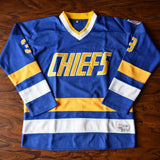 Dave 'Killer' Carlson Slap Shot Charlestown Hockey Jersey Stitched - Blue