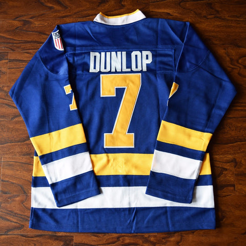 Reggie Dunlop Slap Shot Charlestown Chiefs Ice Hockey Jersey Stitched