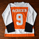 Tim 'Dr. Hook' McCracken Slap Shot Syracuse Bulldogs Hockey Jersey Stitched - Orange