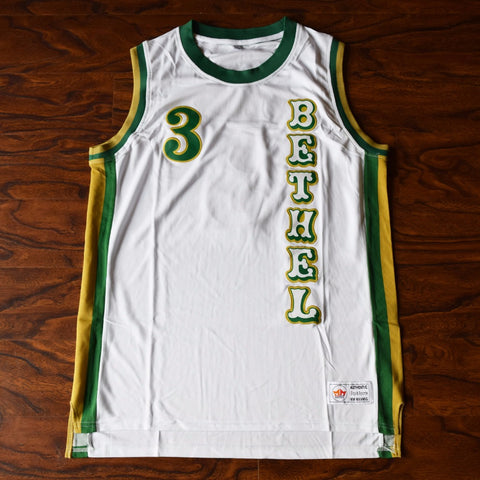 Iverson Bethel High Basketball Jersey Stitched - White