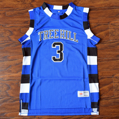 Lucas Scott One Tree Hill Ravens Basketball Jersey Stitched - Blue