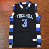 Lucas Scott One Tree Hill Ravens Basketball Jersey Stitched - Black