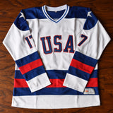 Jack O'Callahan Miracle on Ice USA Hockey Jersey Stitched - White