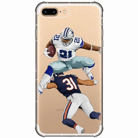 Ezekiel Elliot Posterized iPhone Case