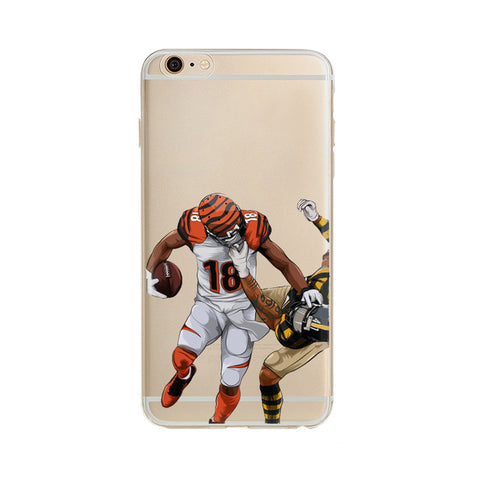 "AJ Green Stiff Arm ""Statement"" iPhone Case"