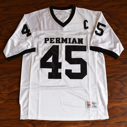 Boobie Miles Permian Football Jersey Stitched Friday Night Lights - White