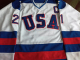 Mike Eruzione 1980 Miracle On Ice Team USA Hockey Jersey