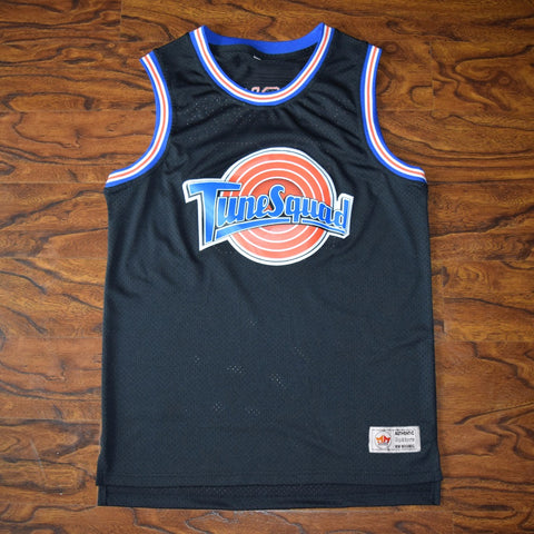 Space Jam Tune Squad Roster Stitched Basketball Jersey - Black