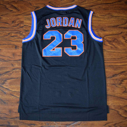Jordan Space Jam Tune Squad Stitched Basketball Jersey - Black