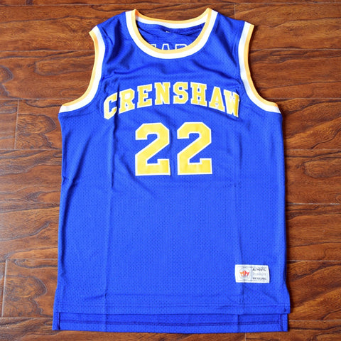 Quincy McCall Crenshaw High School Basketball Jersey Stitched - Blue
