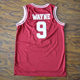 Dwayne Wayne Hillman College Basketball Jersey Stitched - Red