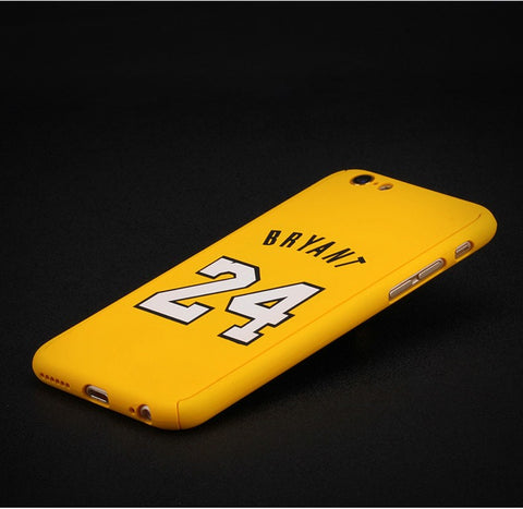 Kobe Bryant Nameplate iPhone Case - Yellow