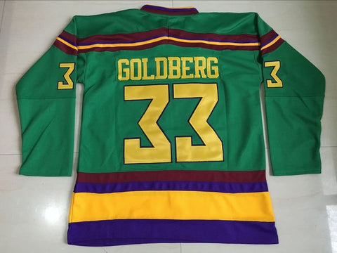 Greg Goldberg Mighty Ducks Stitched Hockey Jersey