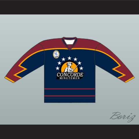Anson Goon Concorde Minutemen Hockey Jersey with EMHL Patch - Blue c4a50fccc