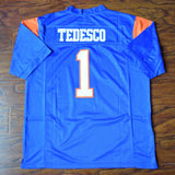 Harmon Tedesco Blue Mountain State Football Jersey Stitched - Blue