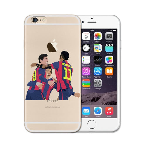 Neymar and Messi Soccer iPhone Case