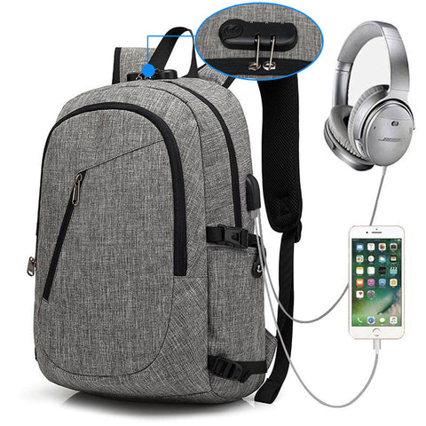 Executive USB Charging Anti Theft Backpack