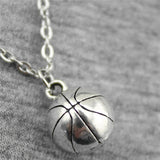 Basketball Pendant Necklace Jewelry Chain Handmade 11mm 3D