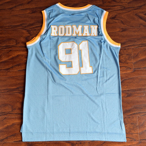 Rodman Oakcliff High School Basketball Jersey Stitched - Blue