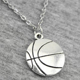 Basketball Pendant Necklace Chain Jewelry Handmade Necklace 22*18mm