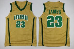 James St. Vincent–St. Mary Irish High School Basketball Stitched Jersey