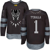 T'Challa Black Panther Hockey Jersey - Black