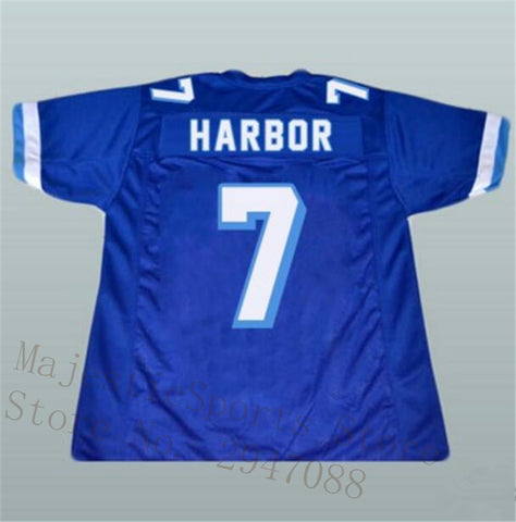Lance Harbor West Canaan Varsity Blues Coyotes Stitched Football Jersey