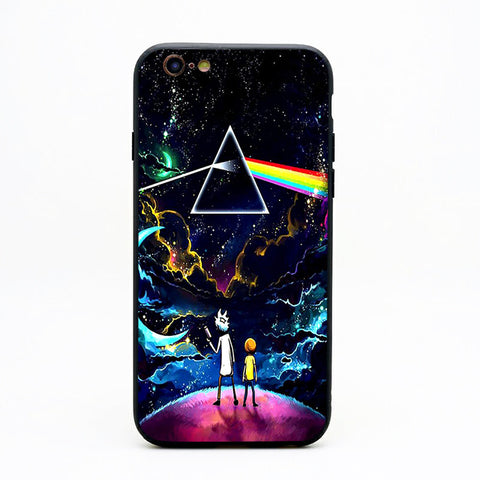 Rick and Morty Dark Side of The Moon iPhone Case
