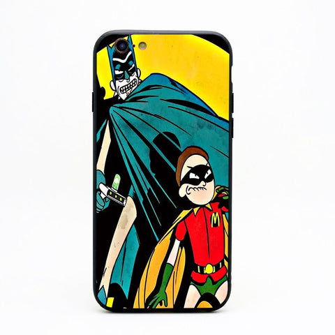 Rick and Morty Batman and Robin iPhone Case