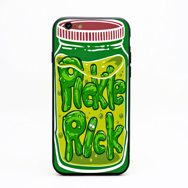 hot sale online 61caf 70540 Pickle Rick Jar Rick and Morty iPhone Case