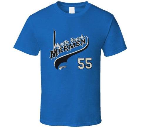 Kenny Powers Myrtle Beach Mermen Eastbound and Down Power Shirt - Blue