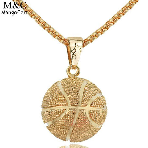 Pendant Hiphop Style Basketball Men Necklace Jewelry Accessory Chain