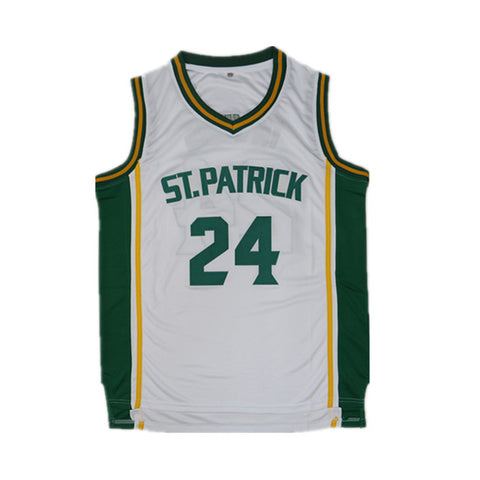 Irving St.Patrick High School Basketball Jersey Stitched - White