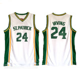 Irving St. Patrick High School Basketball Jersey Stitched - White