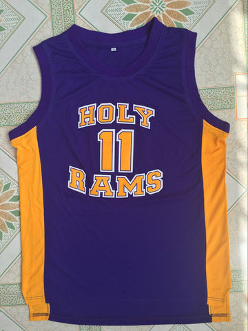 John Wall Holy Rams High School Jersey Stitched - Purple