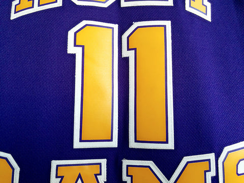 the best attitude 09b17 d9a97 John Wall Holy Rams High School Jersey Stitched - Purple ...