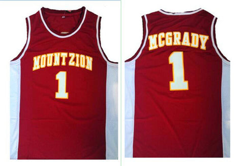Tracy McGrady T-Mac Mount Zion High School Stitched Basketball Jersey - Red