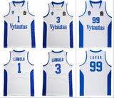 Vytautas Ball Family Basketball Jersey Stitched - White