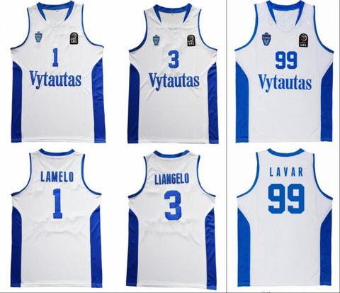 Lithuania Vytautas LaMelo LiAngelo Lavar Ball Basketball Jersey Stitched - White
