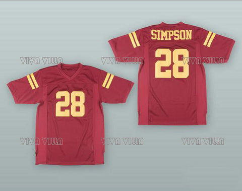 the latest 22260 d6fb9 OJ Simpson Retro Throwback Football Jersey Stitched – The ...